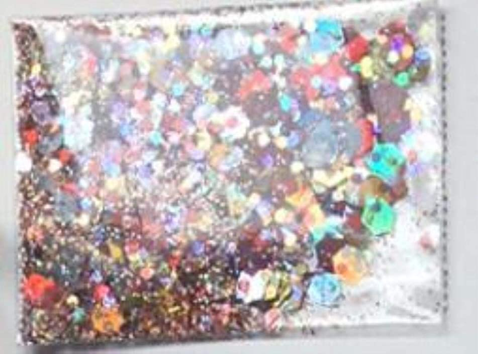 Chunky Glitter Mix - Color: Confetti Party- Perfect for Nail Art - Balloons - Confetti - Rainbow - Resin - Loose Glitter (Patter 1) - Nail Glitter