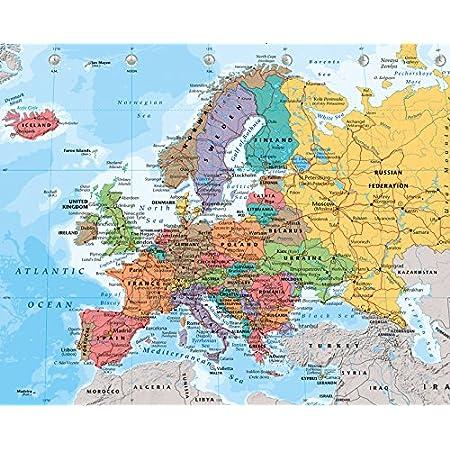 Europakarte 1:34 Mio Landkarten Giant XXL Poster Größe 100x140