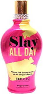 Supre Snooki SLAY ALL DAY Dark Bronzing Formula (12 ounce) Natural Streak-Free Bronzers with Tattoo Protection Technology
