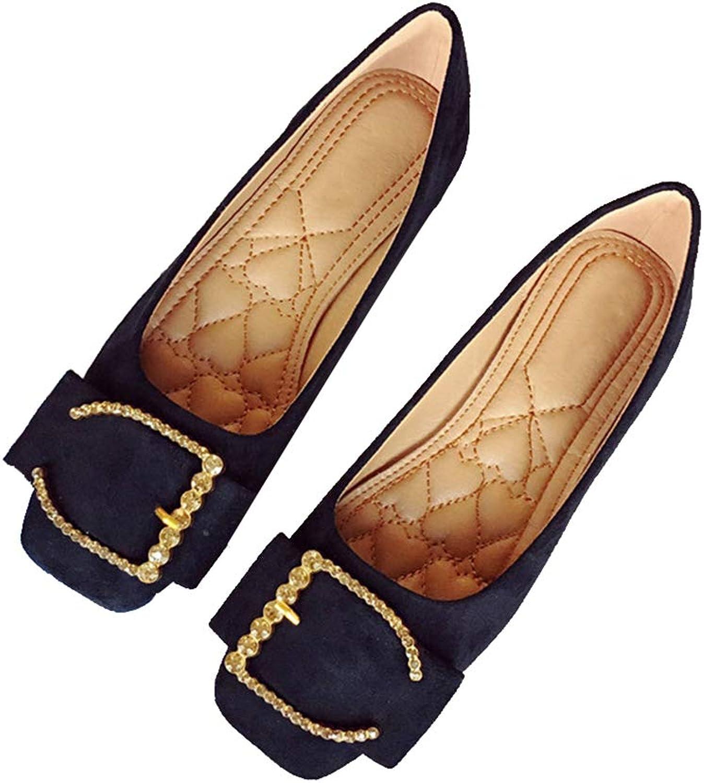 Kyle Walsh Pa Women Flats shoes Buckle Design Sqaure Toe Female Slip-on Casual Footwear