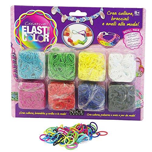 Elasticolor 481 - Refill Pack da 1600 Elastici, Colori Assortiti