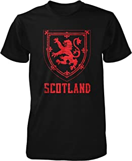 NOFO Clothing Co Scotland, Coat of Arms, King of Scots, Red Lion, Crown of Scotland Men's T-Shirt