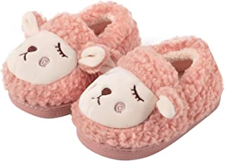 IvyH Chaussures pour Enfants, Pantoufles pour Tout-Petits Mignonnes Pantoufles de Mouton en Peluche pour Bébé Garçons Filles