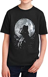 Star Wars Darth Vader's Moon Death Star Youth T-Shirt, Black