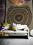 Popular Handicrafts Hippie Mandala Bohemian Psychedelic Intricate Floral Design Indian Bedspread Magical...