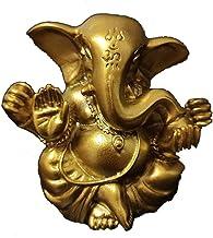 Worth Having - Golden Ganesha Buddha Statue, Meditation Buddha Statue, 5cm Resin Elephant Sculpture, Home Garden Decor Fen...