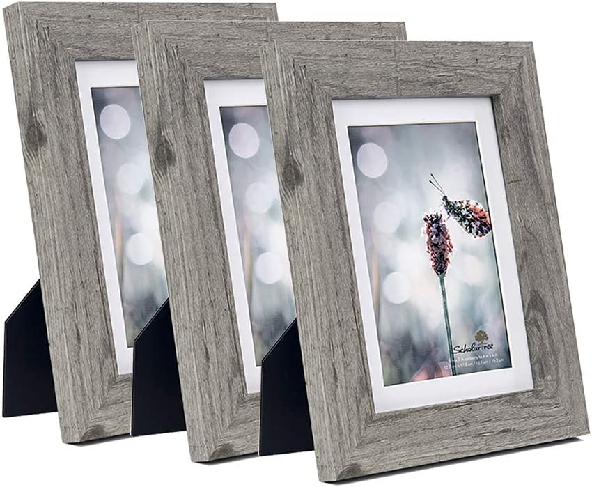 Gray Decor Ash Picture Frame  Gray Frame Wood Picture Frame Hand Polished 3x5,4x6,5x5,5x7,8x8,8x10,9x12,10x10,11x14,12x12,12x16,14x18,16x20