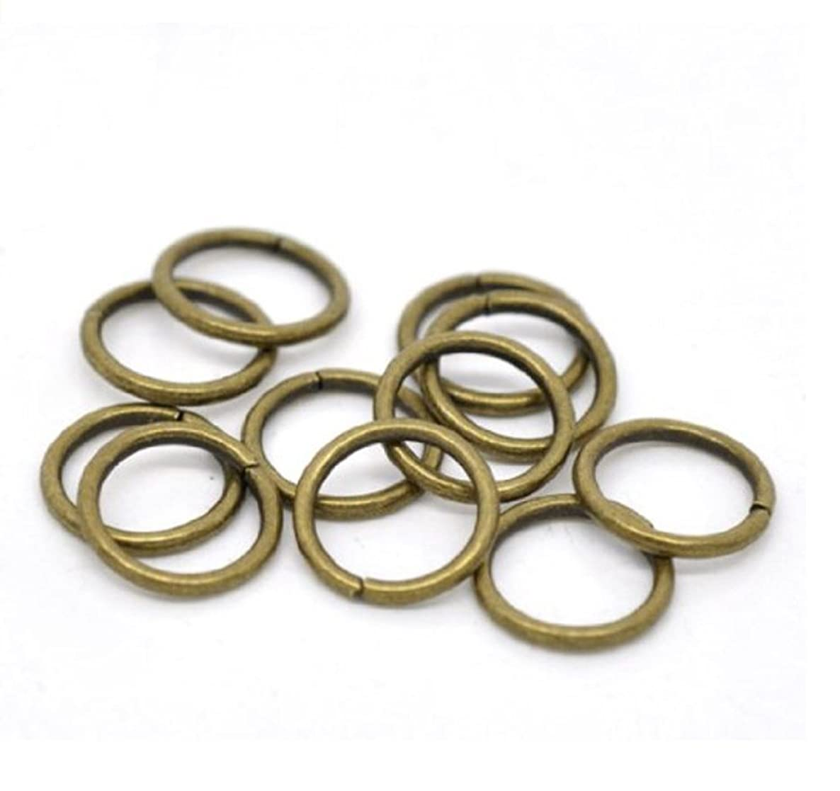 200pcs Top Quality 12mm Jump Ring (~21GA or 0.7mm Wire) Antique Bronze Plated for Jewelry Craft Making CF167-12