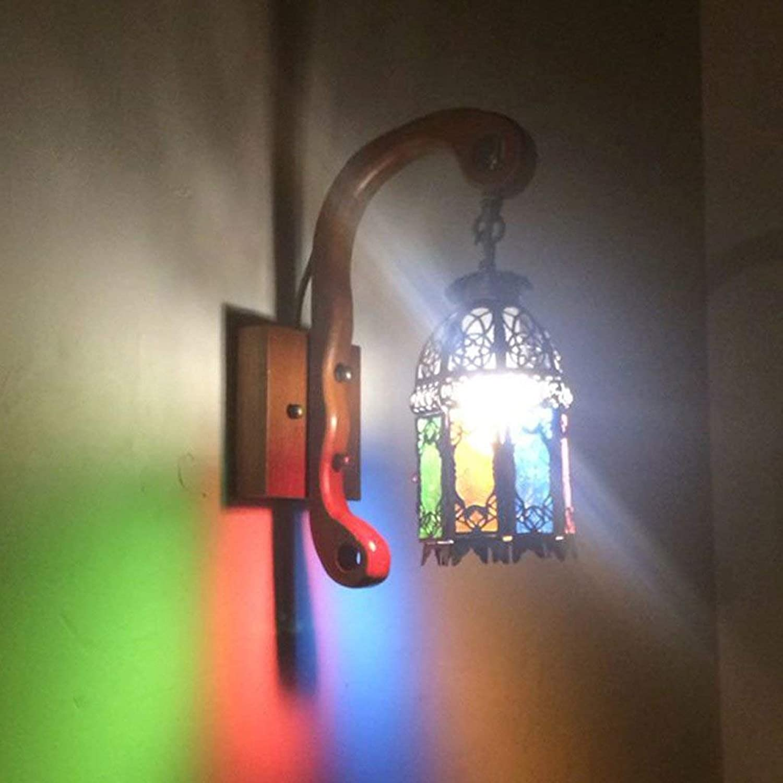 YNG Europäischen Stil Retro Massivholz Wandleuchte Mediterranean Bar Pferd Lampe Wandleuchte Antike Kreative Ganglichter B07GBTH94S | Hochwertige Materialien