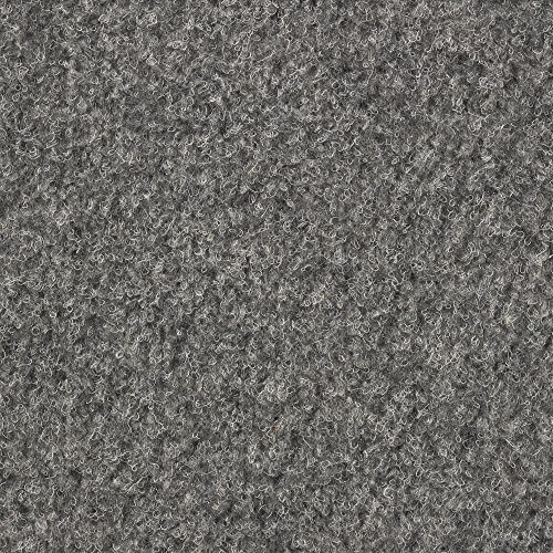 Kunstrasen Rasenteppich mit Noppen | Höhe ca. 7,5mm | 133, 200 und 400 cm Breite | grau | Meterware, verschiedene Größen | Größe: 5 x 4 m