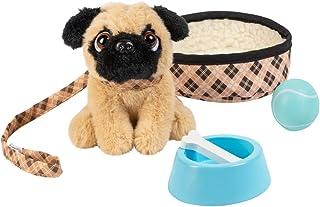 """حیوانات خانگی شگفت انگیز آدورا """"Preston the Pug Pug"""" - لوازم جانبی عروسک 18 عیار شامل سگ ، تختخواب سگ ، یقه ، لیش ، توپ ، کاسه چوبی و استخوان (آمازون اختصاصی)"""