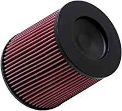 K&N RC-5284 Universal Clamp-On Air Filter: Round Tapered; 2.75 in (70 mm) Flange ID; 5 in (127 mm) Height; 5.875 in (149 mm) Base; 4.5 in (114 mm) Top
