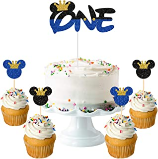 Mickey Minnie Party Supplies Mouse Theme Cupcake Toppers Picks for Baby Shower Kids Birthday Wedding Party Decorations