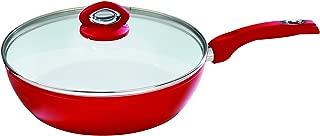 Bialetti Aeternum Red 7197 Covered Deep Saute, 12-inch