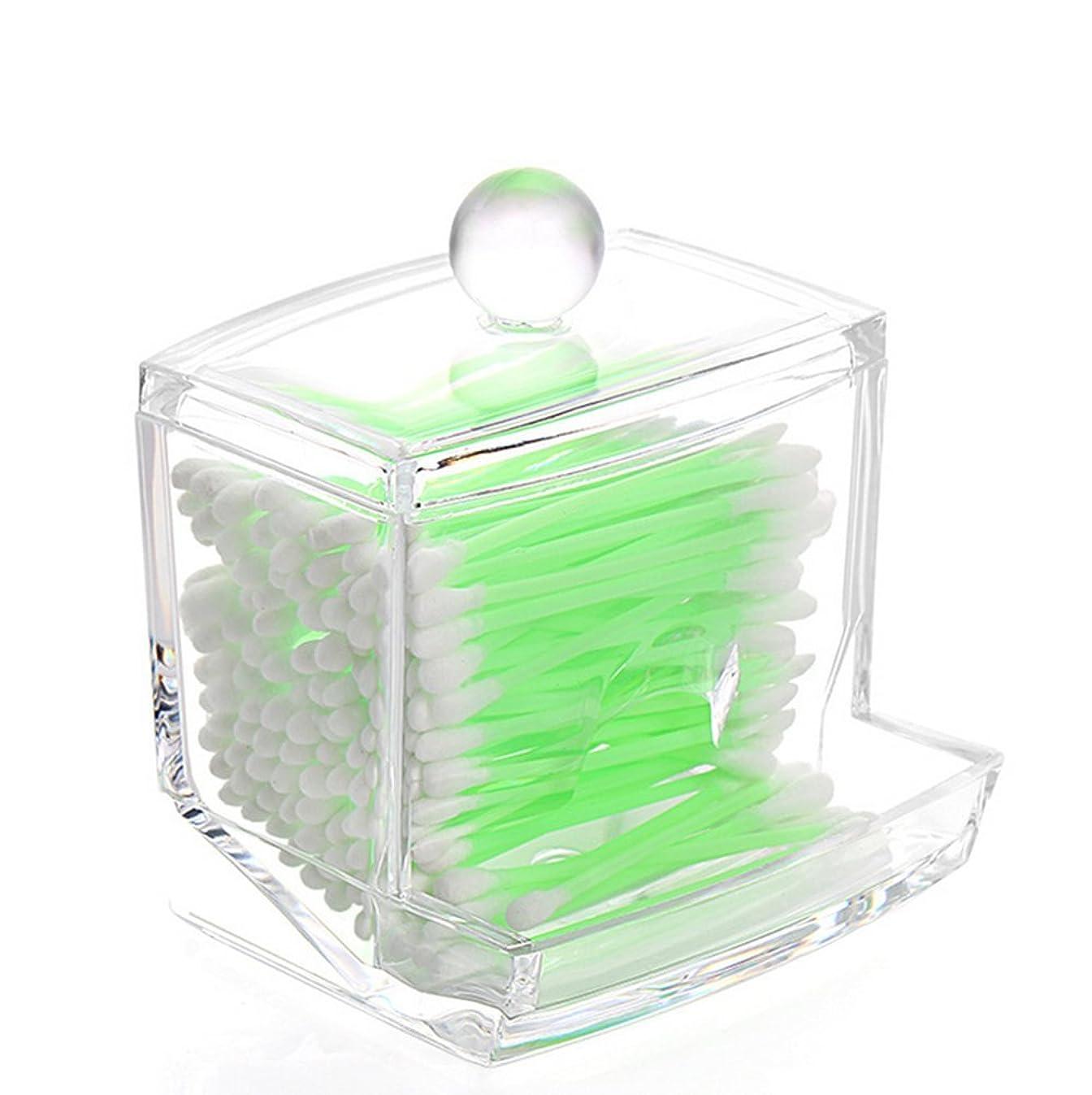 Watpot Q-Tip Cotton Swab Holder Dispenser Clear Acrylic Cotton Balls Storage Case Makeup Cotton Swabs Organizer Container