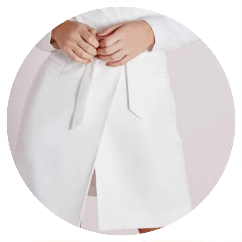 AllAboutUs Women OL Suit Jacket SingleButton Lace Up Long Blazer Dress Deep VNeck Dress Long Sleeves Suit
