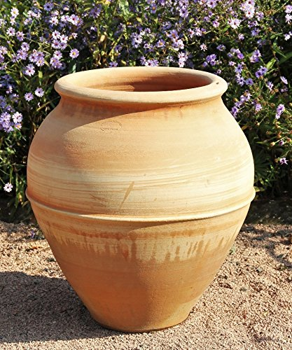 Cerámica de creta, terracota de alta calidad, ánfora, hecha a mano, resistente a las heladas, para el jardín exterior 50 – 60 cm, decoración, Punica