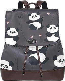 FANTAZIO Mochila de Viaje con diseño de Corazones de Panda