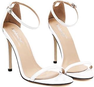 YOGLY Femme Escarpins Bride Cheville Sexy Talon Aiguille Sandales Chaussures High Heels Club Soiree