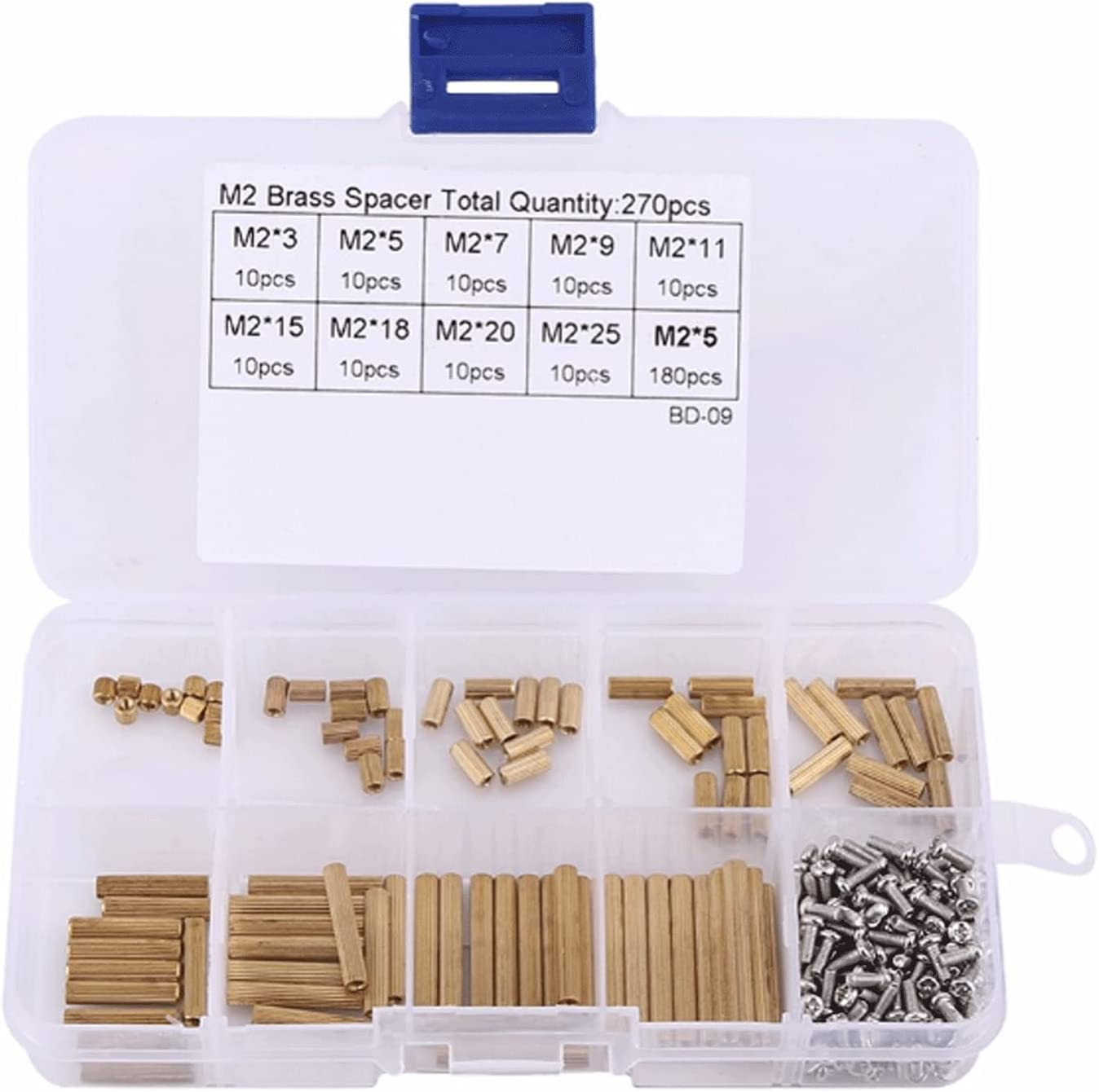 JNOIHF M2 Max 52% OFF Brass Purchase Hex Spacer Standoffs B Screw Assortment Kit Nut