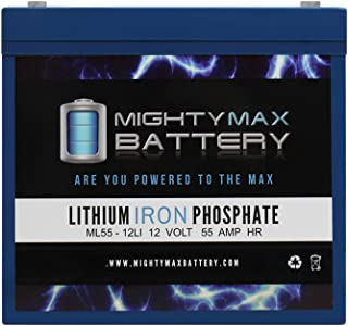 Mighty Max Battery 12V 55AH Lithium Battery Replaces Pride Pursuit TSS 450 Power Chair Brand Product