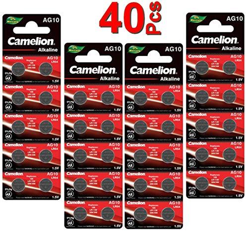 LOT en Paquet 40 Piles Bouton alcaline LR1130 AG10 Liseuses,...
