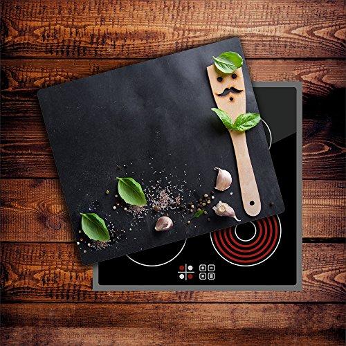 CTC-Trade   Herdabdeckplatten 60x52 cm Ceranfeld Abdeckung Glas Spritzschutz Abdeckplatte Glasplatte Herd Ceranfeldabdeckung Küche