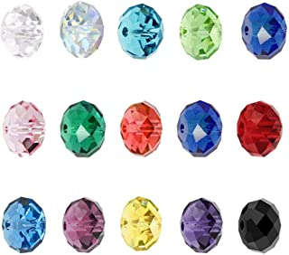 Wholesale Mix Lots Rondelle Crystal Beads 6mm Rondelle Spacer Compatible with Swarovski Crystals Preciosa (900pcs) CCS7