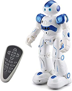 Threeking RC Robot Toy Robots Gift for 6 -12 Years Old Kids Programmable Smart Sensing Music Robot Toy Birthday Gift Present - Male Voice