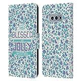 Head Case Designs Accesorios Navidad Bendita Carcasa de Cuero Tipo Libro Compatible con Samsung Galaxy S10e