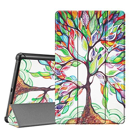 Fintie Hülle für Samsung Galaxy Tab A 10.1 T510/T515 2019 - Ultra Schlank Superleicht Kunstleder Schutzhülle Cover Case mit Standfunktion für Samsung Galaxy Tab A 10.1 Zoll 2019 Tablet, Liebesbaum