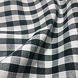Karierter Stoff, Schwarz und Weiß, Polyester und