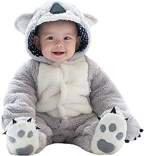 Baby Flannel Romper Fleece Infant Hooded Jumpsuit Baby Fleece Snowsuit for Baby Girl Boy