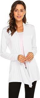 Womens Casual Lightweight Long Sleeve Cardigan Soft Drape...