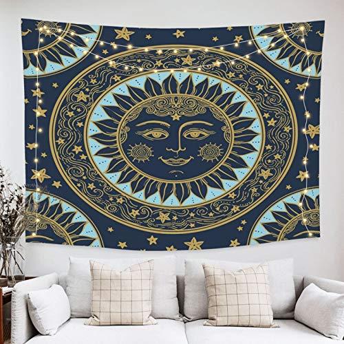 onetoze Tapiz Sun Mandala Tapestry Tapiz Tarot Colgante de Pared Tapices de Pared Decoración para Pared y Habitación Dormitorio Salon Sala de Estar, 130x150cm