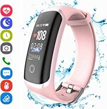 Fitness Tracker HR, Activity Smart Bracelet Wristband with Pedometer Heart Rate Sleep Monitor Calories Stopwatch Waterproof IP67 Call SMS SNS Alert for Men Women Teens Compatible with Android IPhone