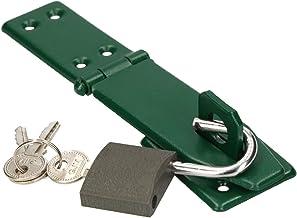 KOTARBAU® Overval 165 mm groen met hangslot overvalscharnier sprei pantservergrendeling deurslot veiligheidsoverval gepoed...