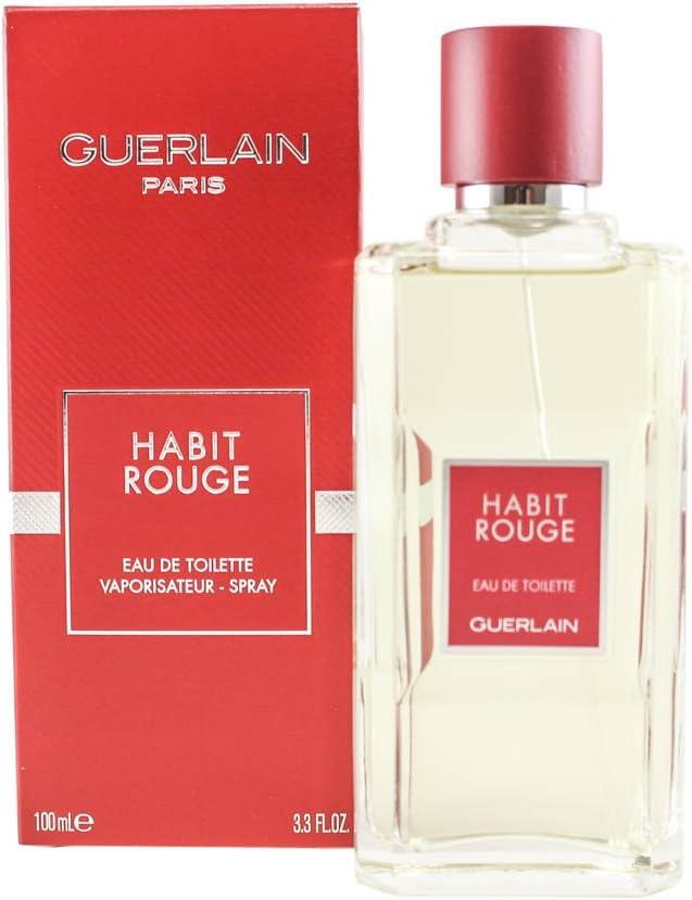 Guerlain Habit Rouge Eau De Toilette Spray For Him 100ml Amazon Co Uk Beauty