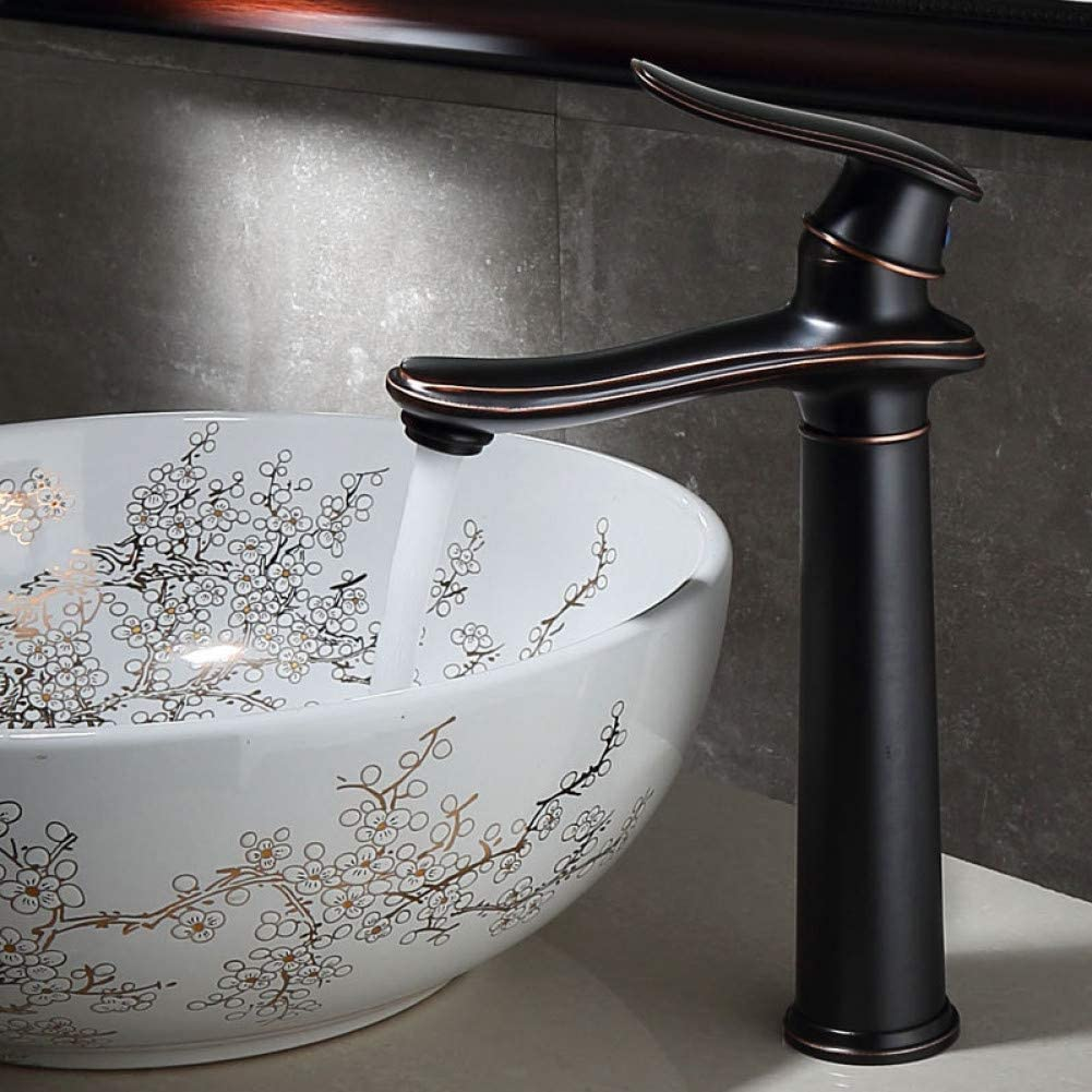 Free shipping Albuquerque Mall New YHSGY Bathroom Sink Taps Black Ancient Basin Cold And Hot Copper