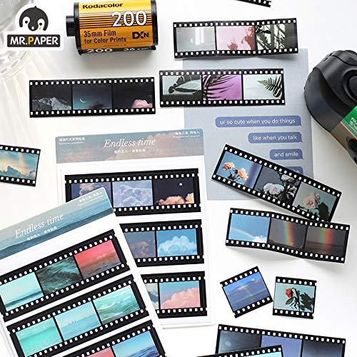 BLOUR Zeit Movie Tape PVC Aufkleber Scrapbooking Planer Gitter dekorative Briefpapier Aufkleber