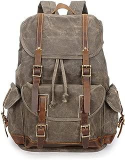 Men's Vintage Canvas Messenger Bag Hiking Durable Crossbody Shoulder Bag Stylish Satchel XFGBTJKYAUu (Color : Yellow, Size : OneSize)