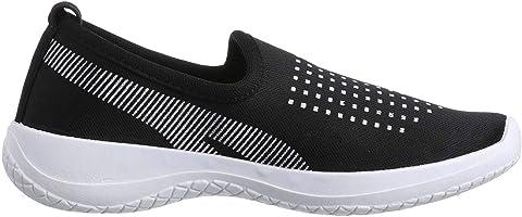 حذاء كاجوال سهل الارتداء قماش لونين للنساء من ساليرنو