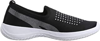 Salerno Two-Tone Textile Casual Slip-On Shoes with Pull-Tab for Women