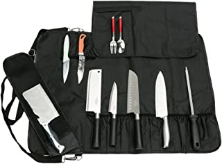 Chef's Knife Bag With 17 Slots Can Holds13 Knives,1 Meat Cleaver, And 3 Utensil..