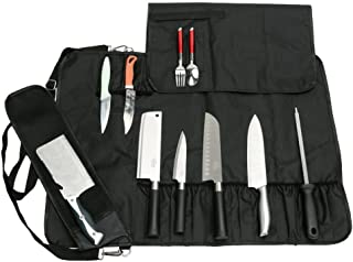 Chef's Knife Bag With 17 Slots Can Holds13 Knives,1 Meat Cleaver, And 3 Utensil Pockets, Multi-function Knife Roll With Ha...