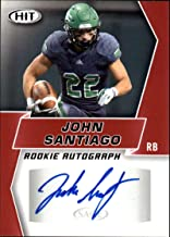 2019 SAGE Hit Premier Draft (NFL) Football RED Autograph #A2 John Santiago Auto North Dakota Official Player Licensed Rookie RC Trading Card