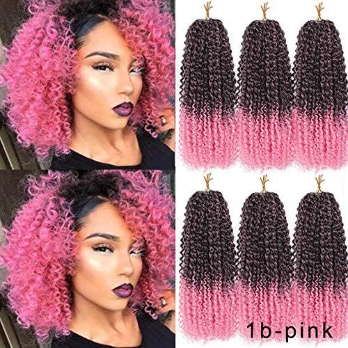 SHIM 8inch 30g Les Cheveux de Marley Crochet Ombre tisse des Extensions de Cheveux synthétiques pour Les Femmes Violet Noir Rose 1 pièce
