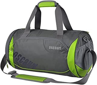 Oscaurt Gym Duffle Sport Bag with Large Ventilated Shoes Compartment For Travel, Gym, Yoga (18,  Green)