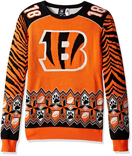 NFL Cleveland Browns Team Color Ugly Sweater, Johnny Manziel, X-Large