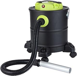 Qlima ASZ 1020 Aspiradora de cenizas, 1200 W, Negro, Verde, Plata